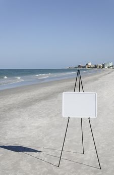 Free Business Whiteboard At Ocean Royalty Free Stock Images - 15324589