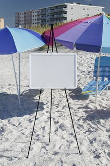 Hotel And Whiteboard Royalty Free Stock Images
