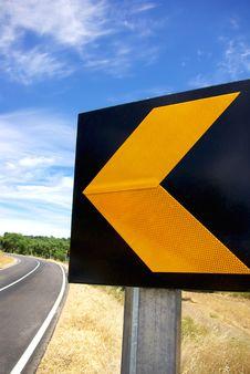 Free Roadsign At Portugal. Stock Image - 15324601