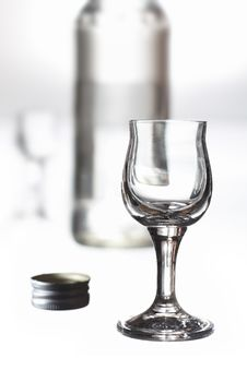 Free Glass And A Bottle Royalty Free Stock Photography - 15324687