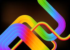 Rainbow Abstract Background Stock Photo