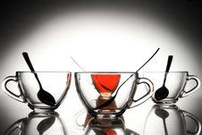 Free 4 Tea Cups Royalty Free Stock Photos - 15325758