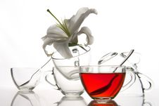 6 Tea Cups And Flower Stock Images