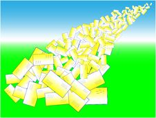 Letters Avalanche Royalty Free Stock Image
