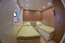 Free Luxury Yacht Continental 80, Guests Bedroom Stock Image - 15326681