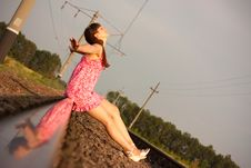 Free Girl On The Rails Royalty Free Stock Photos - 15327458