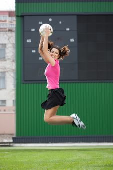 Free Girl Cheerleaders Jumping Stock Photos - 15328523