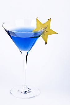 Free Blue Drink With Starfruit Royalty Free Stock Photo - 15329515