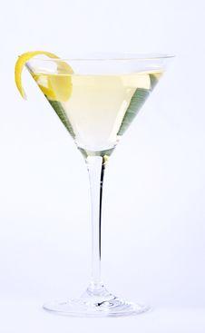 Free Martini With Lemon Stock Image - 15329521