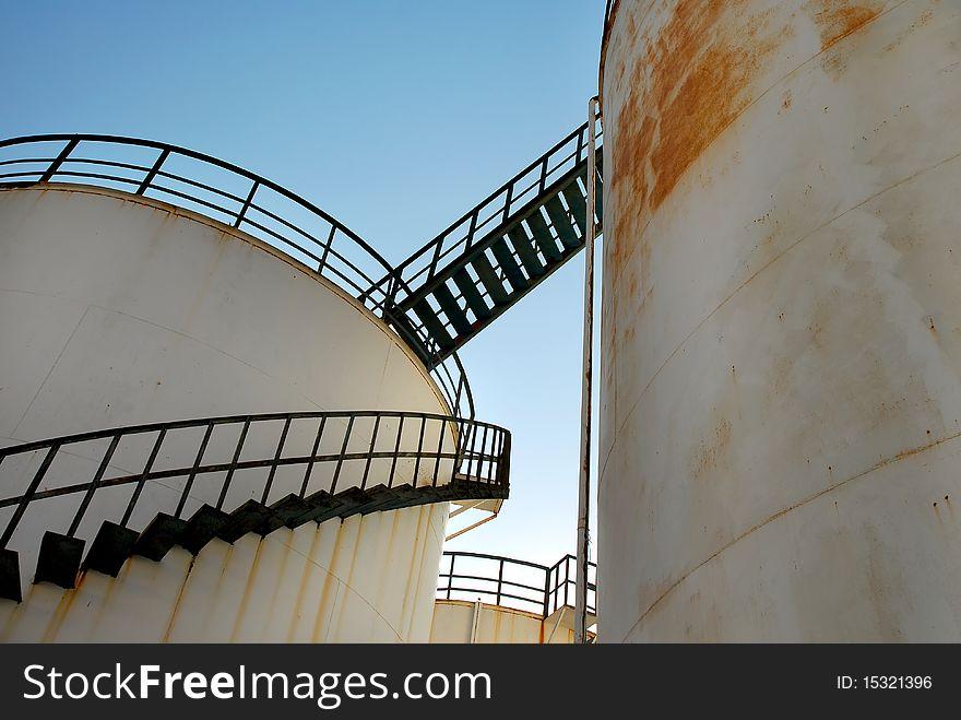 Abandoned Oil Silos