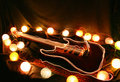 Free Electric Guitar Surrounded By Lights Royalty Free Stock Photos - 15338278