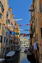 Free Venice Channel With Boats And Clothes Stock Photography - 15339942