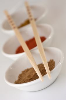 Free Chopsticks And Spices Royalty Free Stock Photos - 15330758