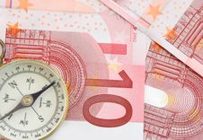 Free Euros And Compass Stock Images - 15330814