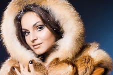 Free Woman In A Fur Coat Stock Image - 15330821
