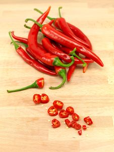 Free Red Chilli Peppers Royalty Free Stock Photography - 15332947