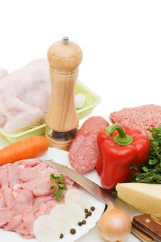 Free Fresh Meat And Different Components Stock Images - 15334004