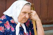 Free Portrait Of The Old Woman Royalty Free Stock Photography - 15334197