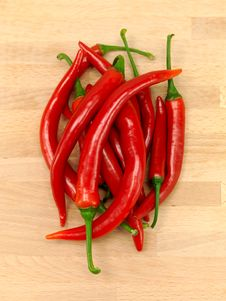 Free Red Chilli Peppers Royalty Free Stock Photos - 15334228