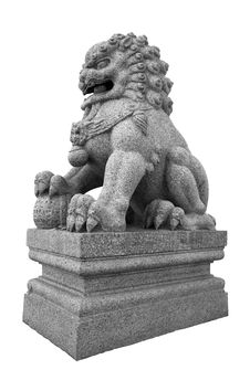 Free Stone Lion Sculpture Royalty Free Stock Image - 15335046