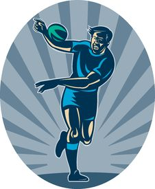 Free Rugby Player Run Ball Passing Stock Photography - 15335832