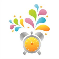 Free Colorful Clock Background Royalty Free Stock Photography - 15336127