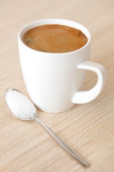 Free Coffee In A White Cup Stock Photos - 15336193
