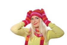 Free Portrait Of Pretty Woman In Hat And Gloves Royalty Free Stock Images - 15336269