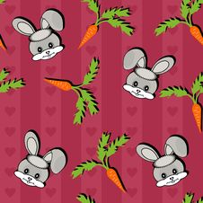 Free Background With Hares And Carrots Stock Images - 15336274