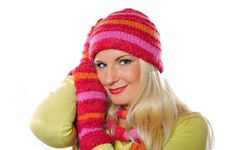 Free Portrait Of Pretty Woman In Hat And Gloves Stock Images - 15336294