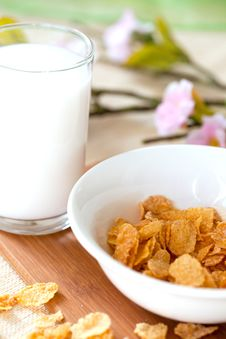 Free Breakfast With Cornflakes Stock Photo - 15337070