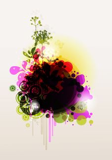 Free Colored Floral Frame Stock Images - 15337484