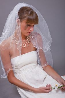 Disappointed And Crying Bride Stock Photos