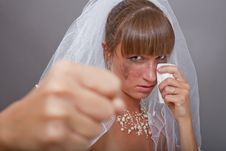 Free Frustrated Bride Punching Stock Photos - 15337663