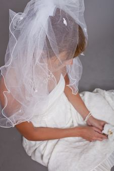 Free Frustrated Bride On The Ground Stock Photos - 15337703