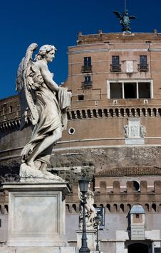 Free Marble Statue From The Sant Angelo Bridge In Rome Stock Photography - 15337752