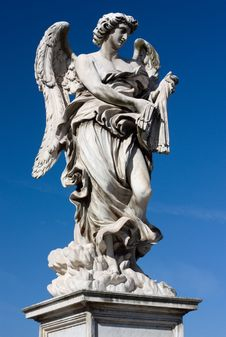 Free Marble Statue From The Sant Angelo Bridge In Rome Stock Photo - 15337780