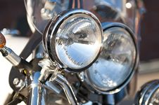 Free Chrome Motorcycle Headlight Lamp Stock Photography - 15337842