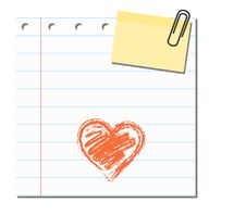 Blank Paper With Sticker Note Royalty Free Stock Image
