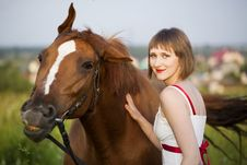 Free Woman & Horse Royalty Free Stock Photography - 15338107