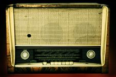 Free Old Radio Isolated On A Dark Background Stock Photos - 15338143