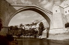 Free Mostar With The Famous Bridge Royalty Free Stock Image - 15338176