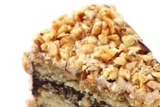 Almond Chocolate Cake Stock Images