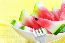 Free Fresh Sliced Watermelon Stock Photography - 15338232
