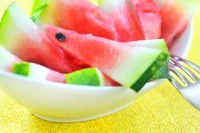 Free Fresh Sliced Watermelon Royalty Free Stock Photos - 15338238