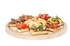 Free Italian Bruschetta And Taralli Over Cutting Board Stock Image - 15338291