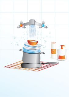 Ware Washing Stock Images