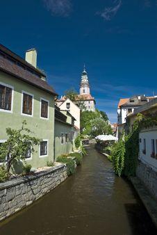 Free Narrow Canal At Cesky Krumlov Stock Photos - 15338853
