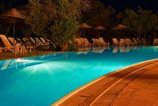 Free Swimming Pool At Night Stock Image - 15339441