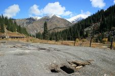 Free Broken Bridge On Road To Big Almaty Lake Royalty Free Stock Image - 15339486